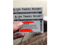 2 * Alton towers tickets.