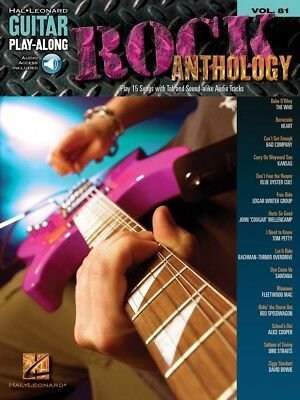 Rock Anthology Sheet Music Guitar Play Along Book And Audio New 000700176