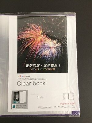 New A4 60 Pockets Clear File For Display Presentation Document Folder File Purpl