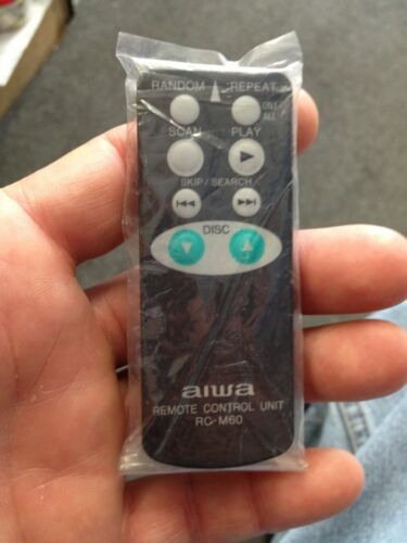 Aiwa Remote Control RC-M60YU Brand New With Battery In Original Package