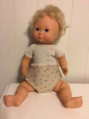"Vintage 1977 Fisher Price My Baby Beth Soft 16"" Doll"