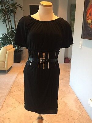 $2900 Dolce and Gabbana Black/Gold Corset Dress Size 2, Super Chic and Cool