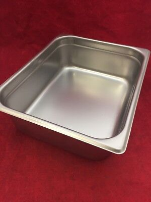 Used Adcraft Stainless Steel Steam Table Pan Instrument Tray Basin 200h4 Half
