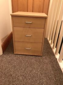 Bedside drawers table