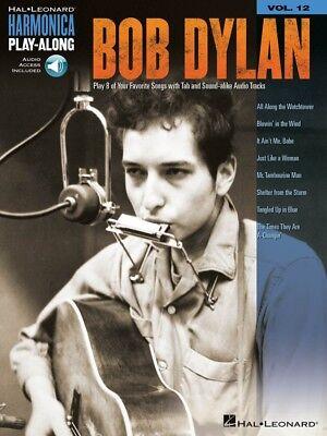 Bob Dylan - Harmonica Play-Along Book and Audio NEW 000001326