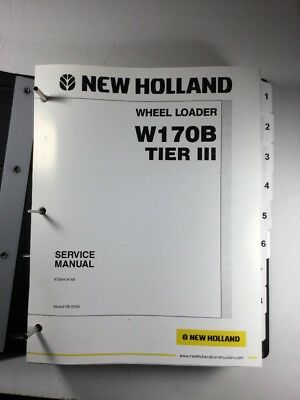 New Holland W170b Tier 3 Wheel Loader Service Repair Manual