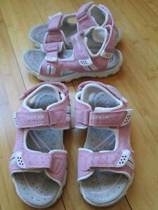 Girls GEOX Sandals, New without boxes size 13.5 & 1