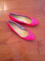 SHOES from EU, PINK shoes, SIZE 8 1/2! NEW, no tags, BUT NEW!