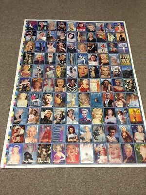Marilyn Monroe, 100 Trading Cards, Uncut Poster 2 Sides 3' X 26 -