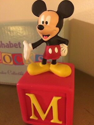 Disney Grolier Collectibles- Mickey Mouse Alphabet  Block Figurine-New in Box
