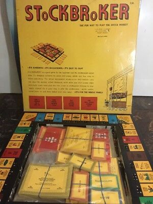 Rare 1975 Dow Jones Stockbrocker Game Unused Stock Market Game