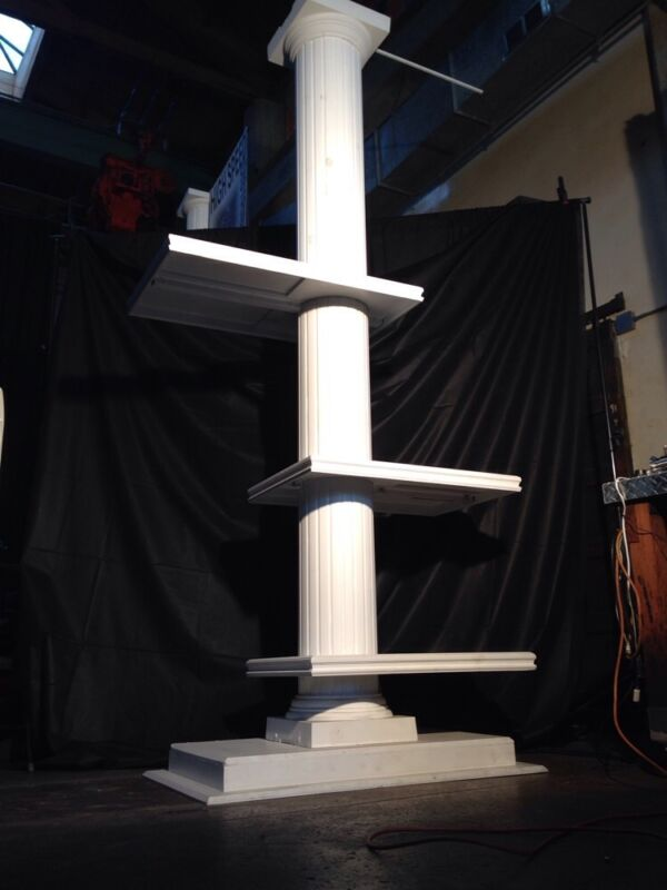 3 Shelf Cantilevered Faceted Column Shelving prop event store display office dec