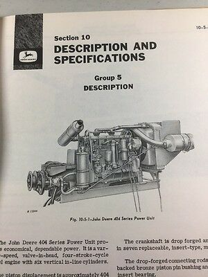 John Deere 404 Series Power Unit Service Manual