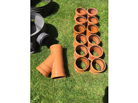 110mm sewer/drainage fittings plus drain and manhole junction with risers
