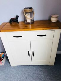 Solid Wood Cream Sideboard Dunelm Loxley