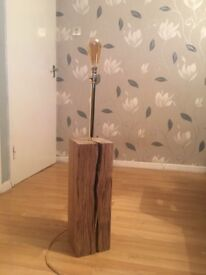 Solid oak floor lamp