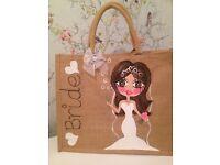 Personalised jute wedding bags