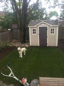 Professionally Installed Dog Runs, Aritificial Turf, Lawns