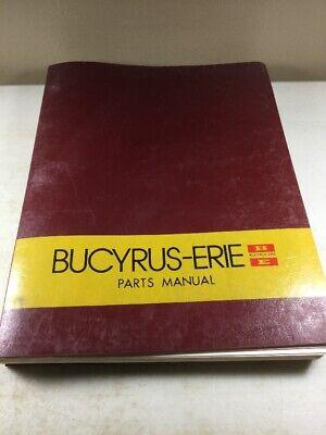 Bucyrus Erie 250 Csp Crane Parts Catalog Manual Original