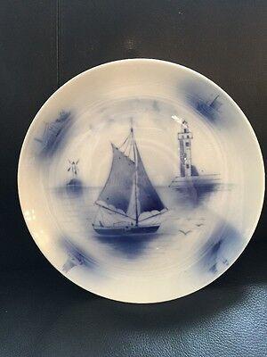 Wandteller, Zierteller, Porzellan, Blau, 25cm