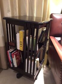 Rare Antique Rotating Bookcase In Great Condition Edwardian Victorian Original