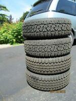 Winter tires-P185 70 R13 (including rims-5 bolt pattern);