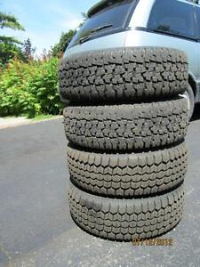 Tires for car or trailer hitch-P185 70 R13 (with rims-5 bolt );