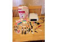 BIG BUNDLE - Professional UV Nail Gel Lamp + Nail Art Tools, UV gels and other