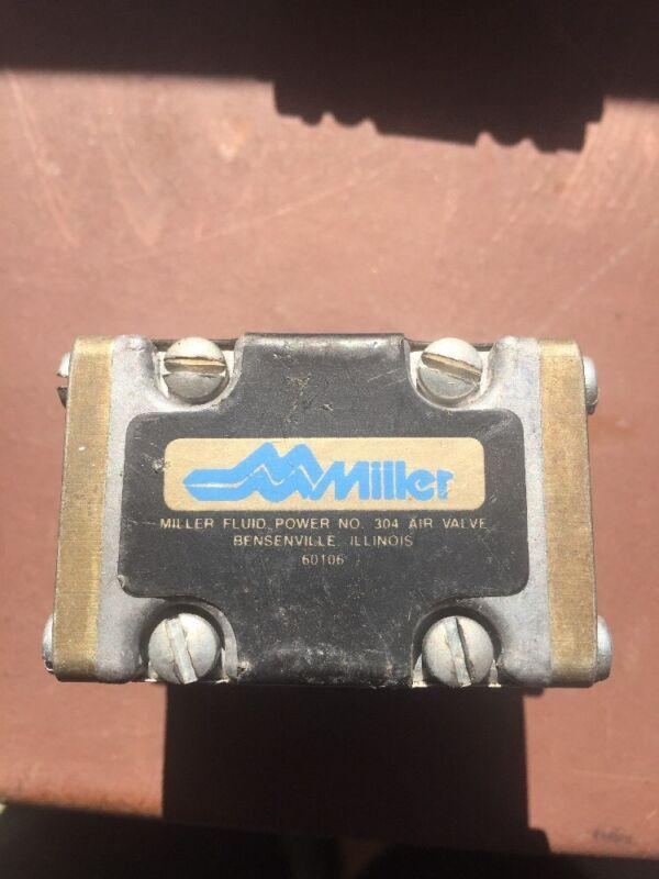 MILLER FLUID POWER Air Valve 3-Port (3-Way) P/N: 304