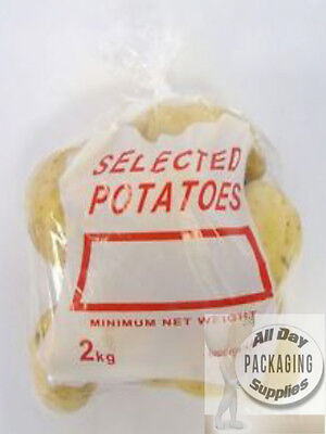 1000 CLEAR POLYTHENE POTATO BAGS SACKS SIZE 10 X 14