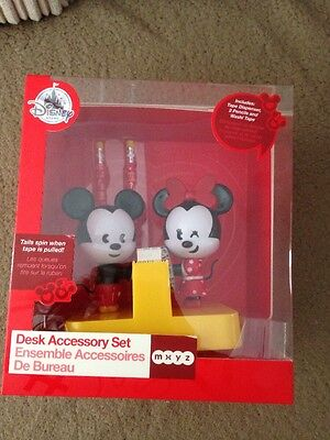 Disney Mickey & Minnie Mouse Desk Accessory Tape Dispenser, His Her Wedding Gift
