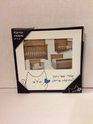 Blobby Cat - You're the Cat's Meow! Blue 4x6 Self Standing Picture Frame