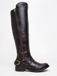 d866d8e3dd31 STEVE MADDEN Black Leather Riding Boots - Size 8.5