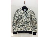 BRAND NEW men's money bomber jacket