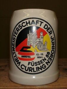 1988 World Junior Curling Beer Stein