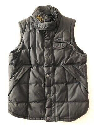Genuine Superdry British Design Men Brown Vest Gilet Waxed 95% New & Pre-Owned