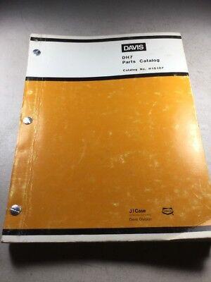 Davis Dh7 Trencher Backhoe Parts Catalog