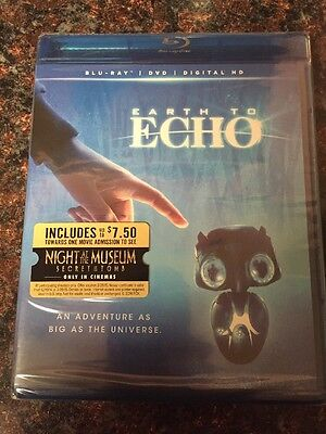 Earth to Echo (Blu-ray/DVD, 2014, 2-Disc Set, Includes Digital Copy) BRAND NEW!!