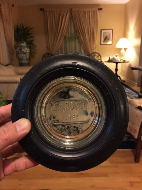 Rare U.S. Royal Tires Ashtray