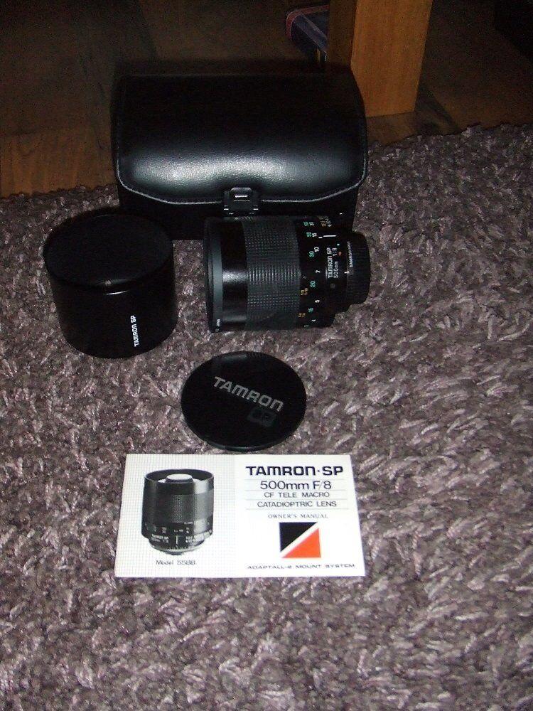Tamron SP mirror lens.