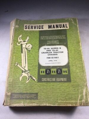 International Td-25 Series B Td-30 Crawler Tractor Service Manual