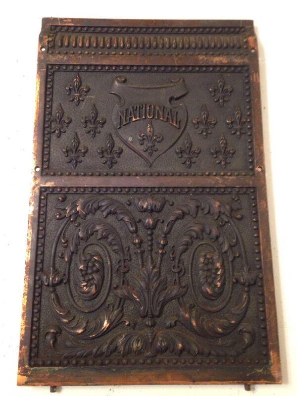 Antique Ornate National Cash Register Model 216 Backplate