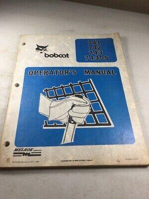 Bobcat 741 742 743 743ds Skid Steer Operators Manual