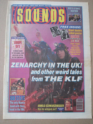 The KLF - Zenarchy in the UK - Sounds Cover 1991 ORIGINAL VINTAGE ADVERT POSTER