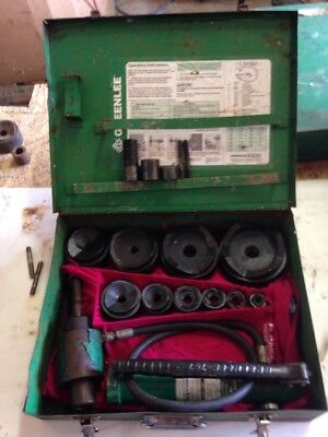 Greenlee 7310 -4 Conduit Hydraulic Knockout Punch Set 767 Pump 746 Ram 3760