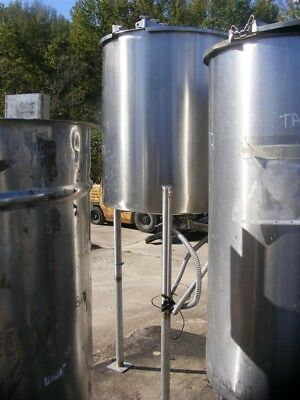 "100 Gallon Stainless Steel Tank.  30"" dia. x 35"" T/T. Open top TALL 7'3"" OAH"