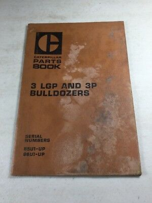Caterpillar 3lgp And 3p Bulldozers Parts Book Manual