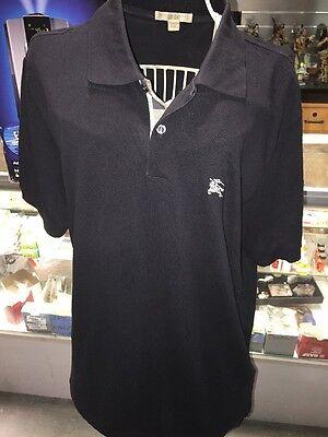 Burberry Brit Men Casual Short Sleeve Nova Mens Polo Shirt Black Size S