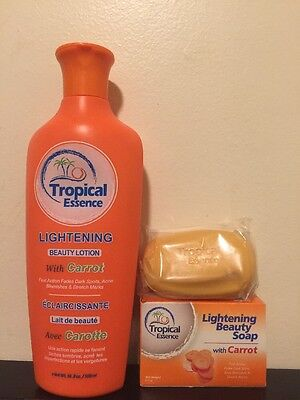 - Tropical Essence Lightening Beauty Lotion with CARROT ❤️❤️FREE SOAP❤️❤️