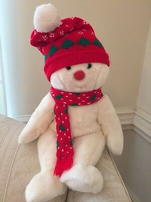 "16"" SNOWBOY"" the Christmas Holiday Ty Beanie BUDDY Plush Snowman Mint Condition"